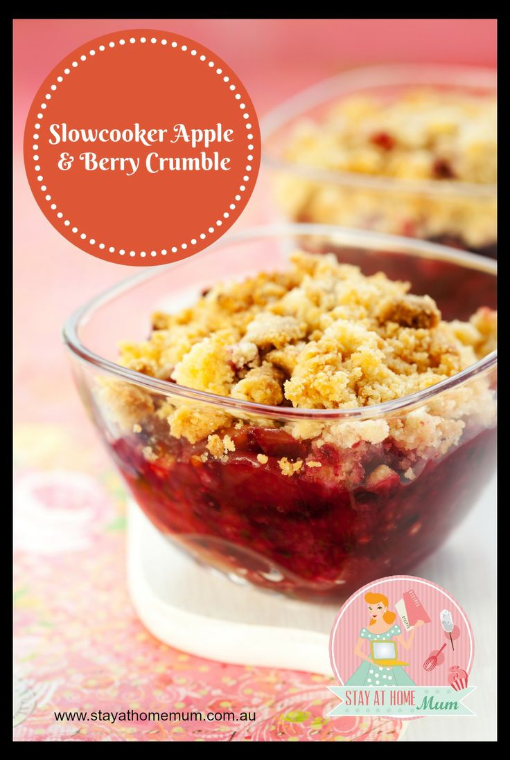Slowcooker Apple and Berry Crumble | Stay at Home Mum
