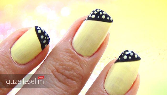 """""""Siyah Sarı Oje Deseni"""" videosunu izlemek için: http://www.guzelleselim.com/siyah-sari-oje-deseni-nail-arts.html #nailarts"""