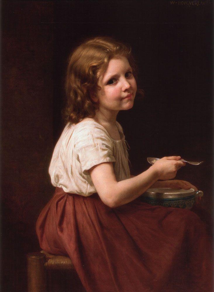William-Adolphe Bouguereau (1825-1905) - Soup (1865) - ウィリアム・アドルフ・ブグロー - Wikipedia