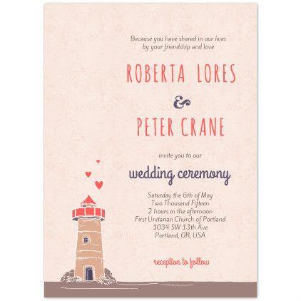 Unique Wedding Invitation Printables , Fairytale Lighthouse