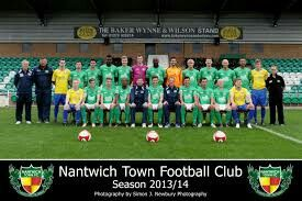 Nantwich Town team group in 2013-14.