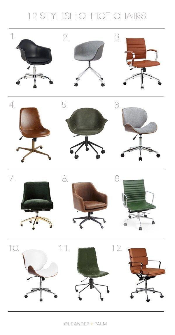 12 Stylish Office Chairs In 2020 Stylish Office Chairs Modern Office Chair Best Office Chair