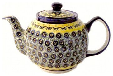 Polish Pottery Teapot - eclectic - coffee makers and tea kettles - - by Wayfair