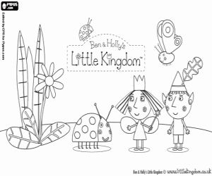 Ben and Holly's Little Kingdom coloring page