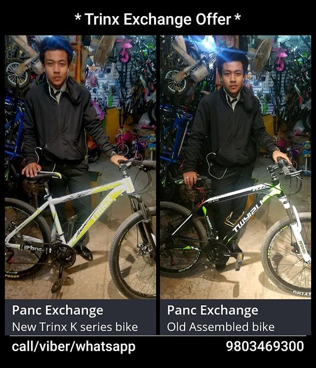 Our Customer Exchanging His Old Assembled Bike With New Trinx K