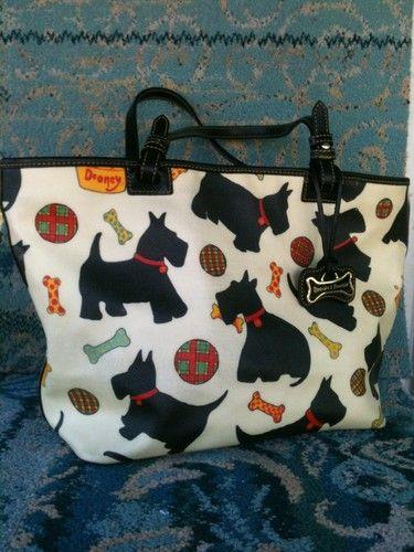 Dooney And Bourke Ivory Black Scottie Dog Tote Scotty Love Pinterest Dogs