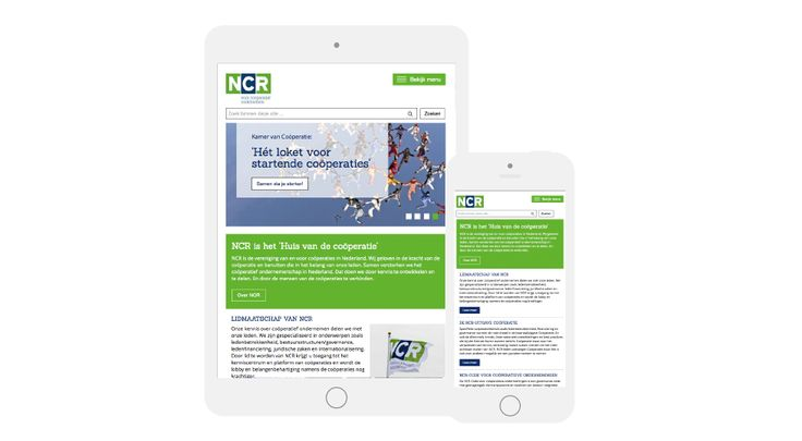 NCR corporate website responsive webdesign