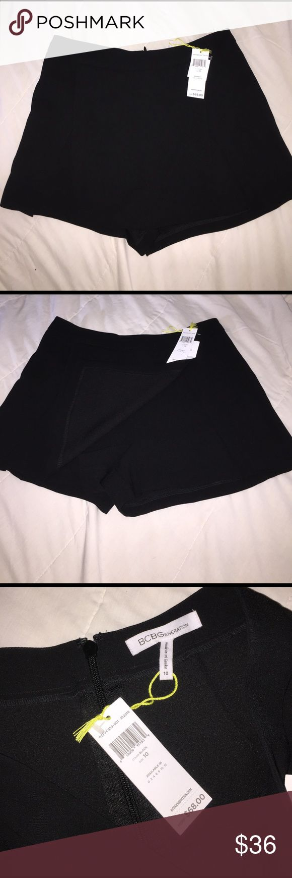 """BCBGeneration short with overlay - like a mini Do you feel like wearing a skirt or shorts or both? These shorts have an overlay to look like a skirt. 14"""" from waist to bottom of skirt panel. Never worn. BCBGeneration Skirts Mini"""