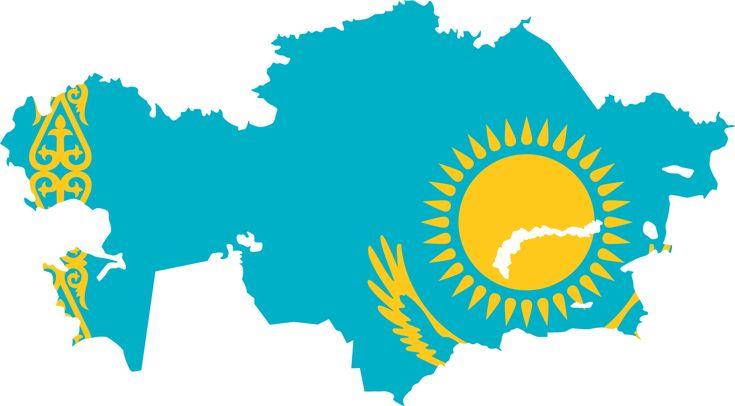 Kazakhstan  http://4.bp.blogspot.com/-ZfUHVWq21gs/Tgh3xVS5ZNI/AAAAAAAANGI/FBEhFNuD_jU/s1600/kazakhstan+flag+map.png