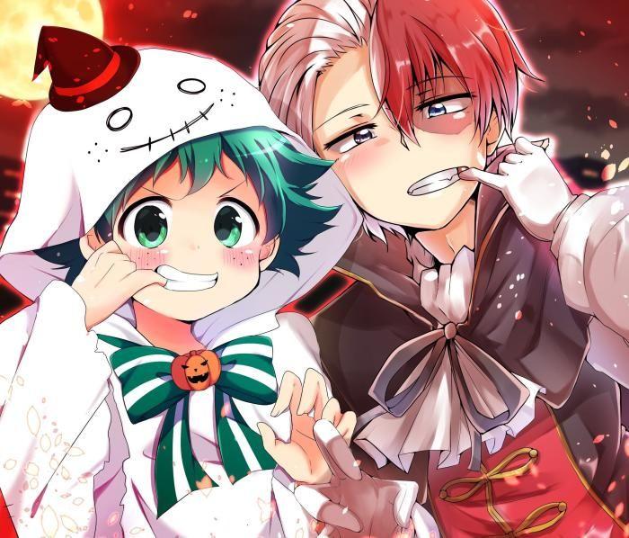 My Hero Academia Izuku Midoriya Shoto Todoroki Halloween Hd Wallpaper Download Hero My Hero Academia My Hero Academia Episodes
