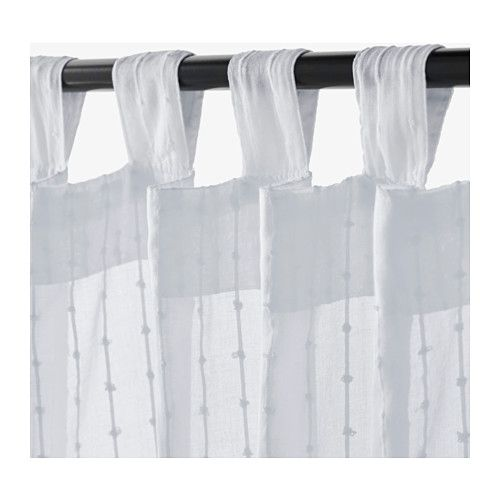 These are the curtains I like for your house. MATILDA Sheer curtains, 1 pair  - IKEA