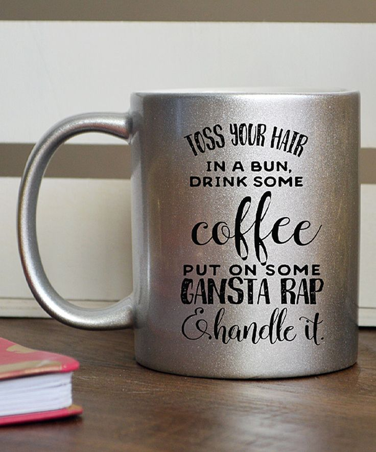Another great find on #zulily! Silver 'Handle It' Mug by Hey Shabby Me #zulilyfinds