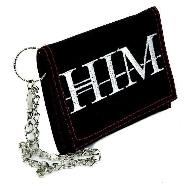 HIM Ville Valo Tri-fold Wallet w/ Chain Love Metal