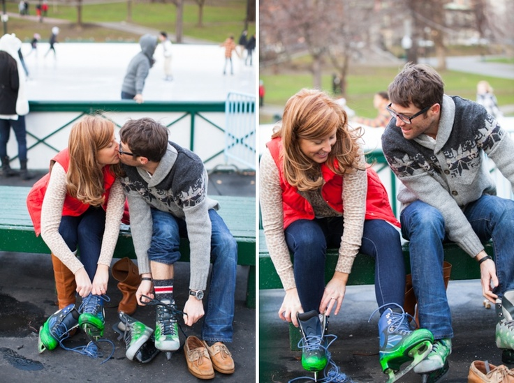 best ice skating engagement session inspiration for a j ice skating engagement session by summer street photography