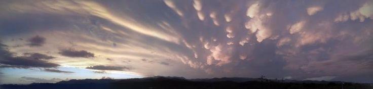 Nubes mastodónticas en las Sierras Chicas | ElDoce.tv