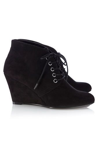 1000  ideas about Black Wedge Ankle Boots on Pinterest | Black