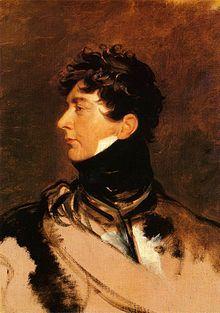 Régence anglaise — Portrait de Georges IV, alors qu'il est Prince Régent (peinture de Thomas Lawrence).
