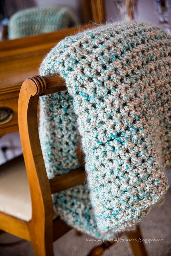 Crochet Afghan Patterns N Hook : A Time For All Seasons: Simple and Soft Crocheted Afghan ...