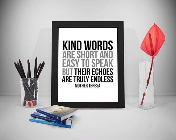 Kind Words Printable Quotes Mother Teresa Sayings Speech