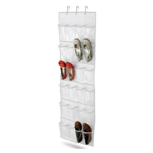 New Clear White Shoe Organizer Shoe Rack - Hangs Over Door FREE SHIPPING #Unbranded