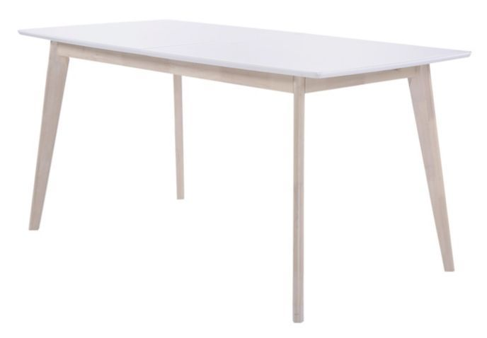 Table Extensible L160 200 Cm Malena Scandinave Bois Et Blanc