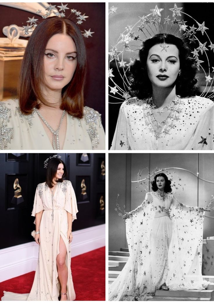 Lana Del Rey channeling her inner Hedy Lamarr at the 60th annual Grammy Awards #LDR