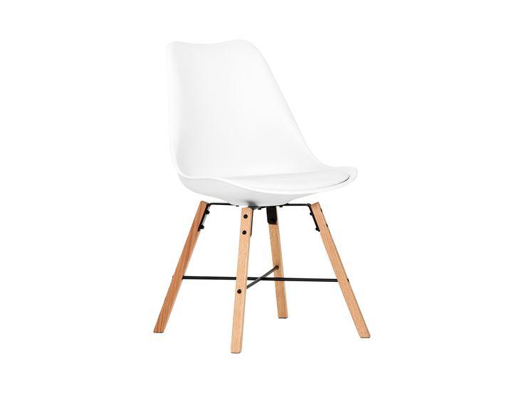 SHELLO Stol Vit/Ek i gruppen Inomhus / Stolar / Matstolar hos Furniturebox (100-34-74547)