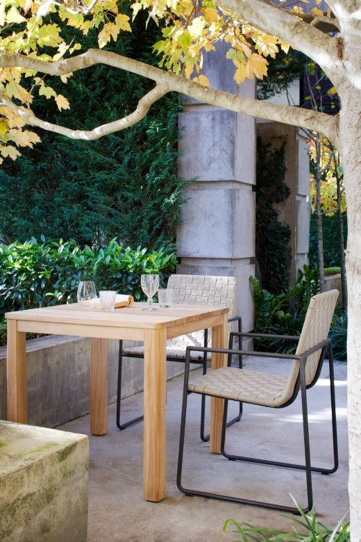 This range of outdoor dining options is perfect for a small alfresco or balcony area.  Available from Eco Outdoor.