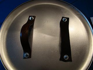 DIY shields: cheap pizza pans, drill four holes and attach straps to the back with bolts