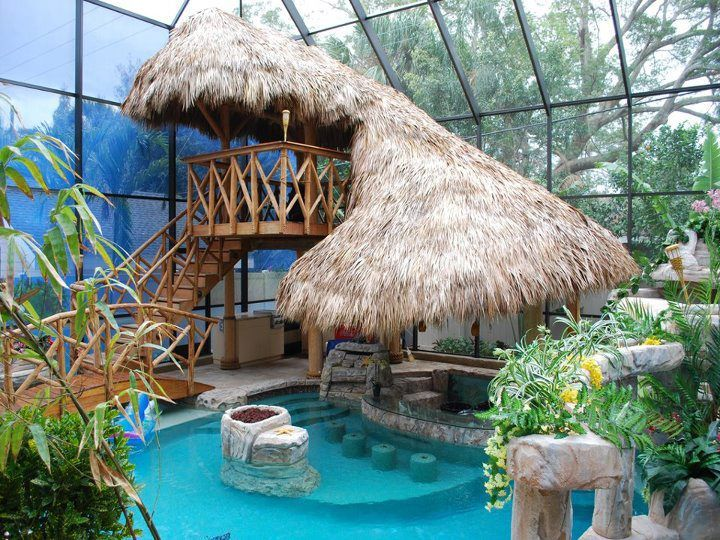 Nice place to relax! — #MindBodySpirit. Brought to you by SunGoddess Magazine: Igniting the Powerful Goddess WIthin http://sungoddessmagazine.comIndoor Pools, Swimming Pools, Backyards Pools, Dreams Backyards, Tropical Pools, Tropical Paradise, Dreams Pools, Pools Design, Tiki Bar