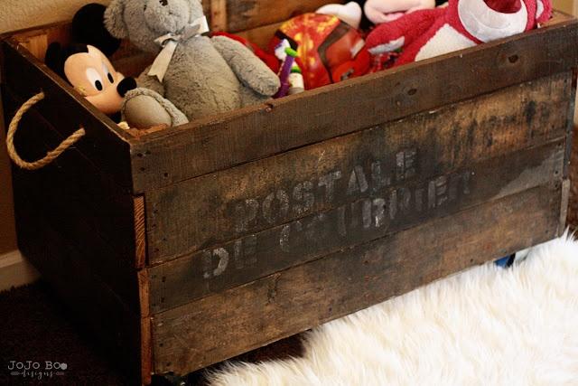 DIY Industrial Toy Box