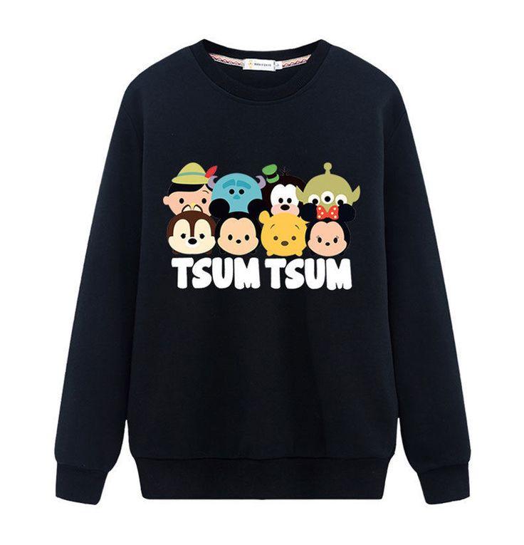 Women New Cartoon Animal Print Hoodies Tops Tsum Tsum Shirt Loose Sweatshirt  #Unbranded #SweatshirtCrew