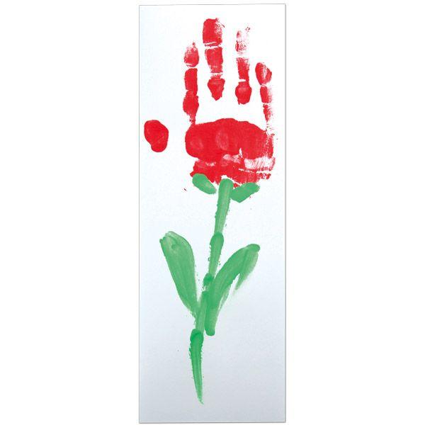 Kortti on maalattu laadukkailla sormiväreillä. Tarvikkeet ja ideat Sinellistä!