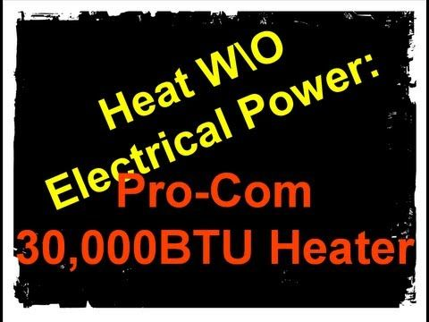 Heat Without Electricity: Natural Gas Space Heater (Pro-Com# MD5TPA) - YouTube