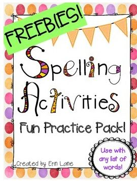 Try out some FREE spelling activities!