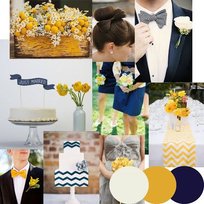 Navy & Mustard Chevron Wedding Inspiration based on the http://knotsandkisses.co.uk Graphic Prints Collection of Wedding Stationery