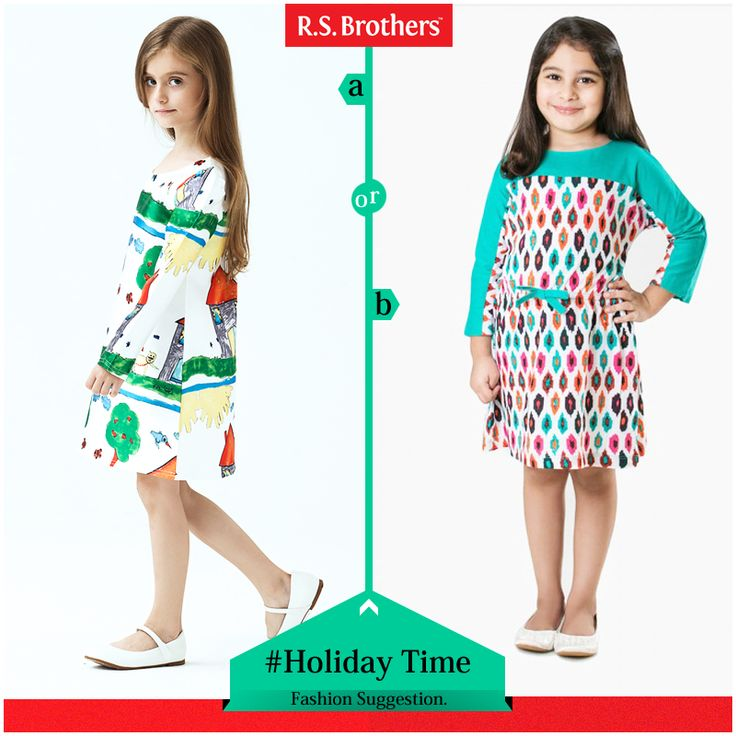 #HolidayTime Hey Guy's! Which type of #Outfits prefer for your little princess weekends and holidays? Try these and make your daughter look unique in #Style! (Image copyrights belong to their respective owners