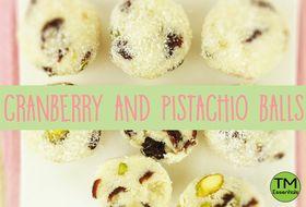 Gluten Free Cranberry and Pistachio Balls