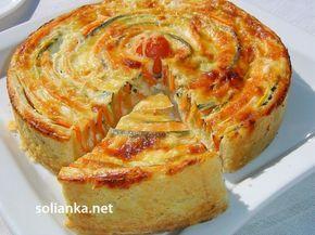 Овощной пирог «Полосатик» - еще одно коронное блюдо или просто кулинарный шедевр из простых овощей.