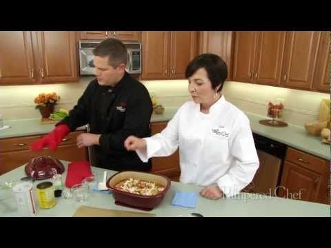 This video will teach you to make a hearty chicken parmesan soup - perfect for the coming seasons! #pamperedchef #recipe #soup