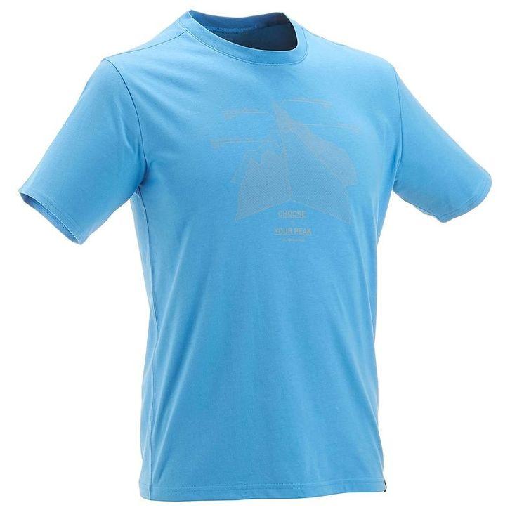 TechTIL 100 rövid ujjú férfi póló túrázáshoz, világos kék