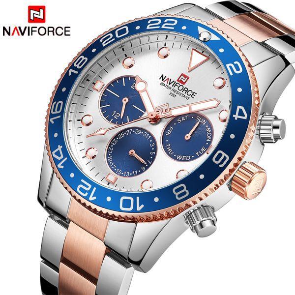 Us 25 81 46 Dto Naviforce Relojes De Marca De Lujo Moda Informal Para Hombre Cuarzo 24 Horas Fecha Rel In 2020 Waterproof Clock Watches For Men Watch Brands