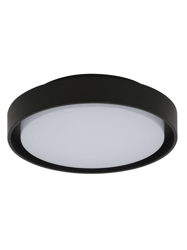 LEDlux Floyd LED IP54 Round Bunker in Black