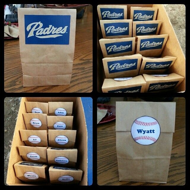 Snack bags I made for Wyatt's T-ball game. I love when it's our turn!!