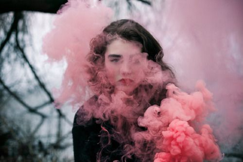 Smoke is ugly, but any girl is pretty, this could make an interesting composition for a photo.