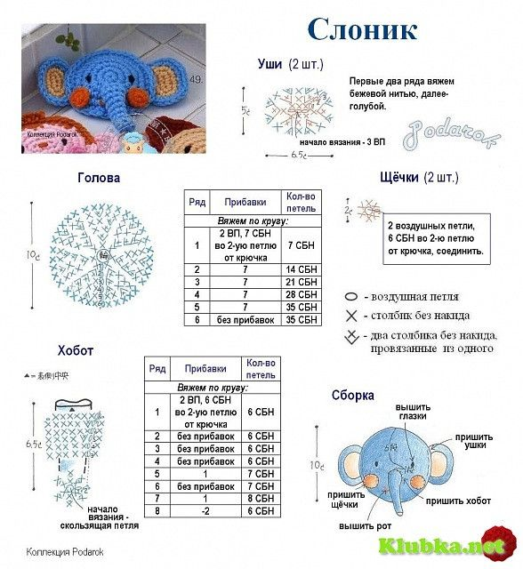 Mini motives, Crochet animals 3