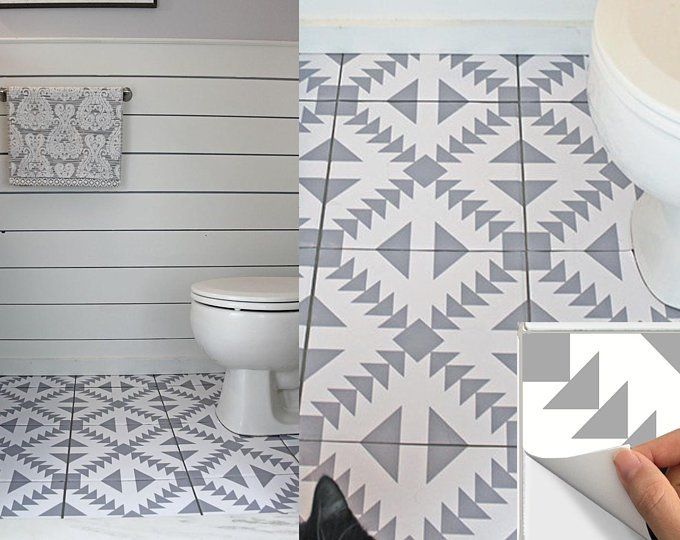 Tile Stickers Vinyl Decal Waterproof Removable For Kitchen Bath Wall Floor Or Stair M029 Gray Kacheln Bad Wand Ideen Bodenbelag
