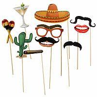 """Набор фотобутафории """"Мексиканская вечеринка"""", 10 предметов 1145683"""