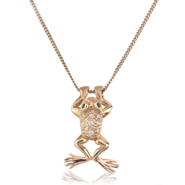 Rose Gold Plated Frog Necklace | Merve Baal