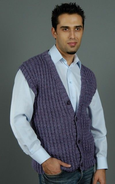 Love this vest! This would look great in navy or champagne, and looks like it's a quick knit, too!